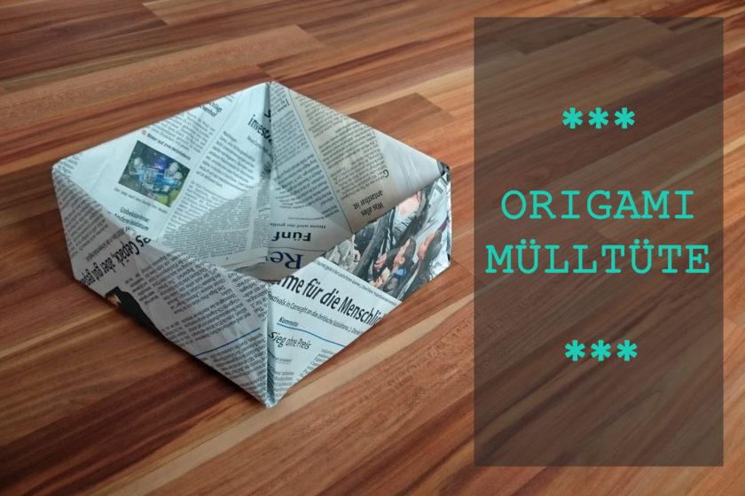 Mülltüte aus Zeitungspapier falten
