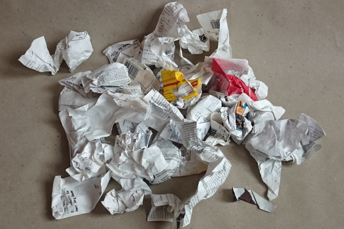 Kassenzettel aus Thermopapier